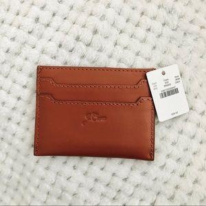 BRAND NEW JCREW Smooth Leather Slip Card Holder